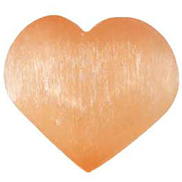 Orange Selenite Gemstone Heart 2¾""