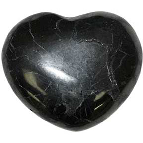 Shungite Gemstone Heart 1¼