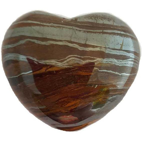 Tiger's Eye Gemstone Heart 1¾""
