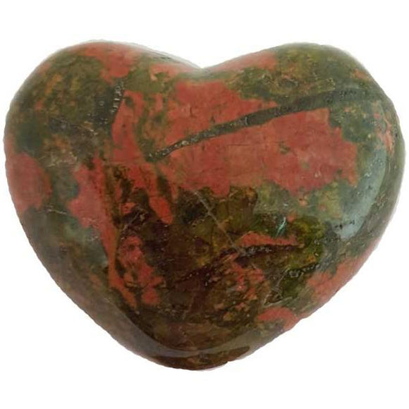 Unakite Gemstone Heart 1¾