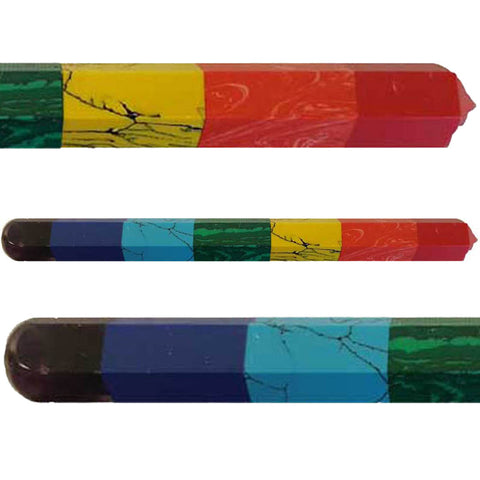 6-Faceted 7-Chakra Crystal Massager Wand 6""