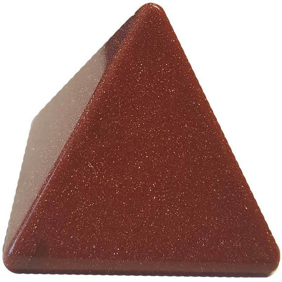 Red Goldstone Pyramid 30-35mm