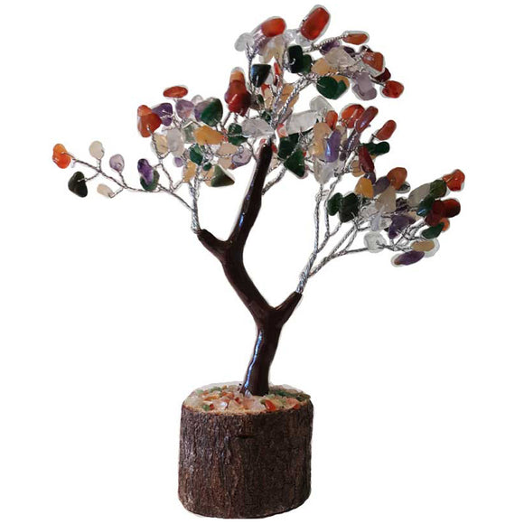 Mixed Agate Gemstone Tree