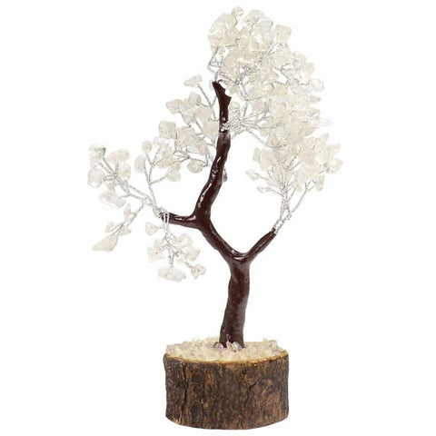 Clear Quartz Gemstone Tree - 160 Beads
