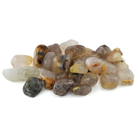Rutile Tumbled Gemstones (1lb)