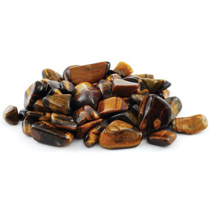Yellow Tiger's Eye Tumbled Gemstones (1lb)