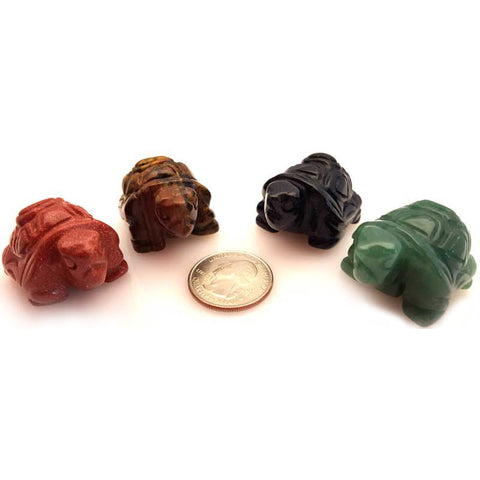 Turtle Gemstone (various gemstones) 1½""