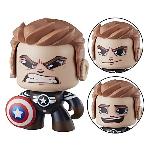 Marvel Mighty Muggs Captain America II Action Figure - Official Hasbro :: Mental XS Online