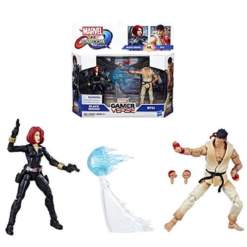 Marvel Gamerverse Black Widow vs. Ryu Action Figures - Official Hasbro :: Mental XS Online