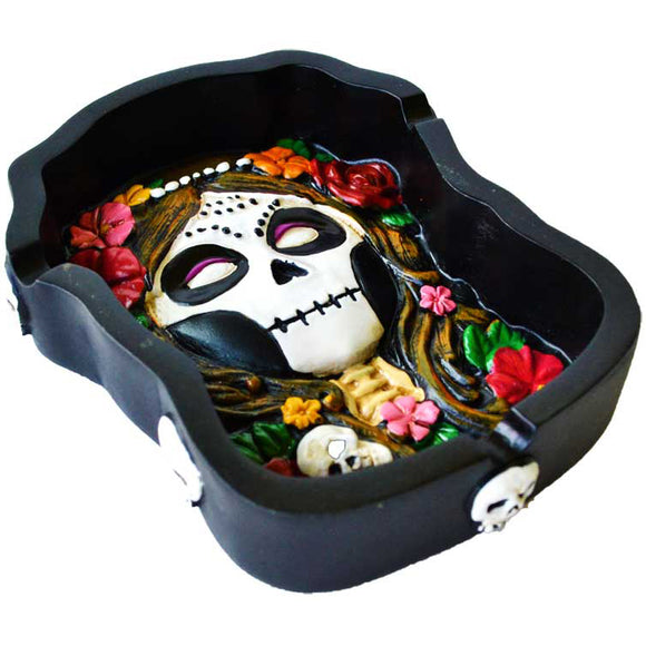 Day of The Dead Cold-Cast Resin Ashtray