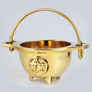 Pentacle Brass Cauldron 3