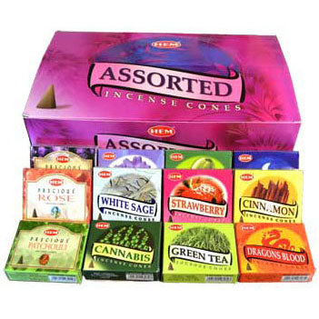 HEM 10x Incense Cone 48 Box Variety Pack