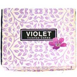 Kamini Aromatics Violet Incense Cones - 10 pack