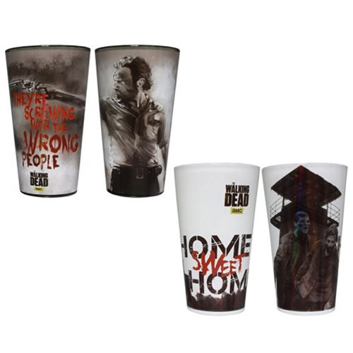 The Walking Dead Home and Wrong People Pint Glass 2-Pack - Official Just Funky :: Mental XS Online