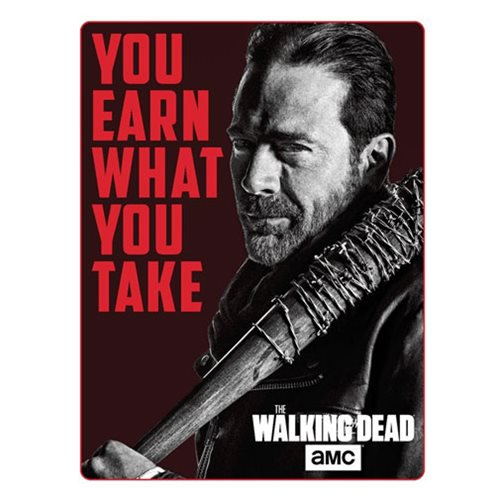 The Walking Dead Negan Polar Fleece Sherpa Blanket - Official Just Funky :: Mental XS Online