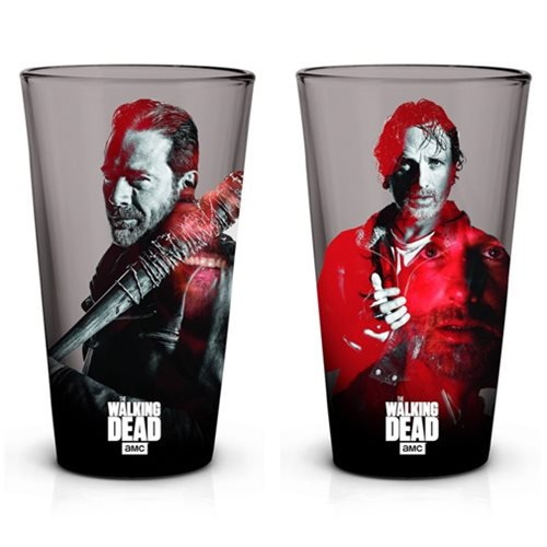 The Walking Dead Rick and Negan Pint Glass 2-Pack - Official Just Funky :: Mental XS Online