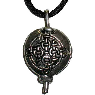 Celtic Scent Locket Pewter Pendant (has cord)
