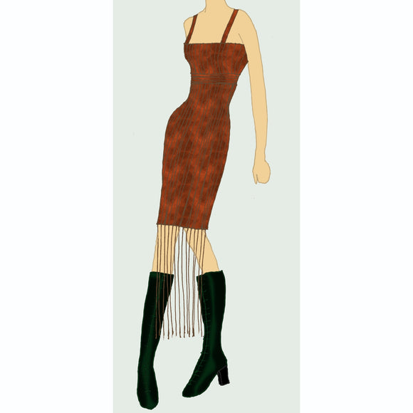 Suede Flapper Dress :: Mental XS Online (US 4-14) from EVE by Katerina :: Mental XS Online