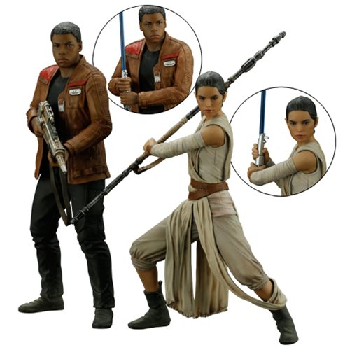 Star Wars: TFA Rey and Finn ArtFX+ Statue Set :: Mental XS Online
