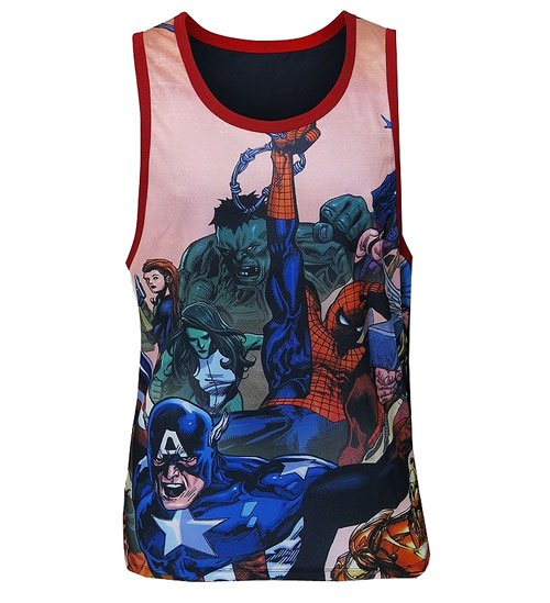 Marvel Comics Civil War Sublimated Tank Top - Official Mad Engine :: Mental XS Online
