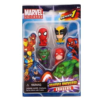 Marvel Figural Eraser 4-Pack Set B - Official Monogram :: Mental XS Online