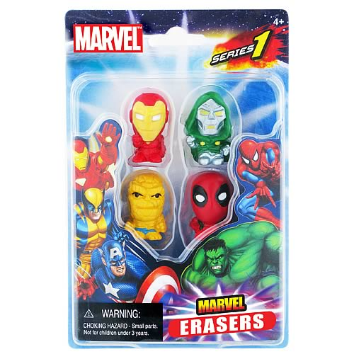 Marvel Figural Eraser 4-Pack Set C - Official Monogram :: Mental XS Online