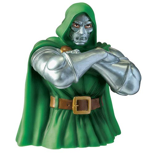 Marvel Dr. Doom Vinyl Bust Bank - Official Monogram :: Mental XS Online