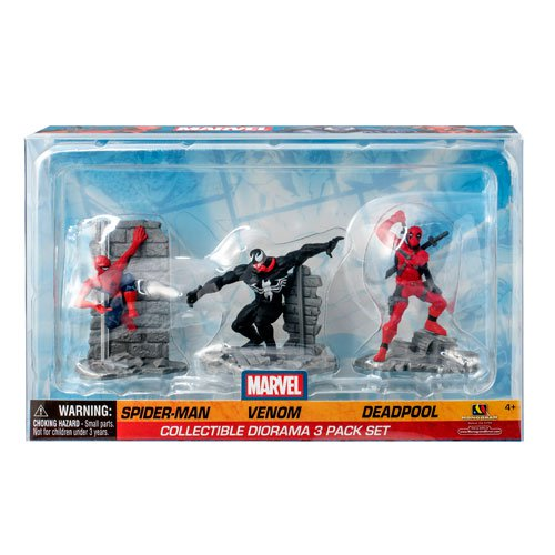 Marvel Spider-Man, Venom, and Deadpool Diorama 3-Pack - Official Monogram :: Mental XS Online