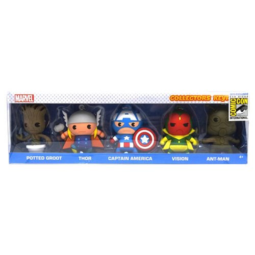 Marvel 3D Foam Key Key Chain Collector 5-Pack - SDCC 2015 - Official Monogram :: Mental XS Online