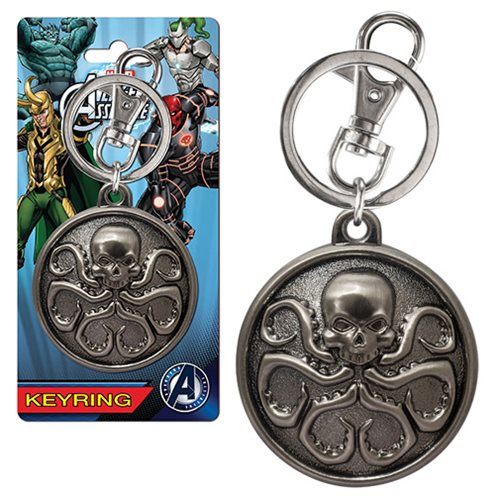 Marvel Hydra Logo Pewter Key Chain - Official Monogram :: Mental XS Online