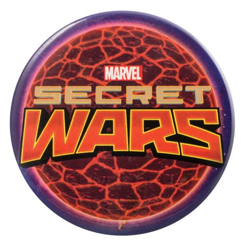 Marvel Secret Wars Logo Bottle Opener Button Magnet - Official Monogram :: Mental XS Online