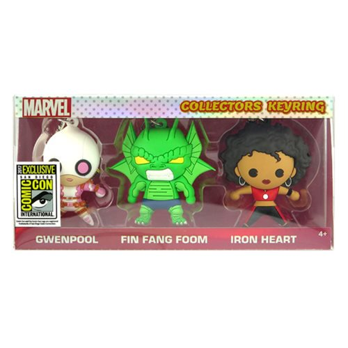 Marvel 3D Figural Key Chain 3-Pack - SDCC 2017 Exclusive - Official Monogram :: Mental XS Online