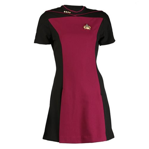 Star Trek: The Next Generation Woman's Skant Command Red Uniform Dress - Official Anovos Costumes :: Mental XS Online