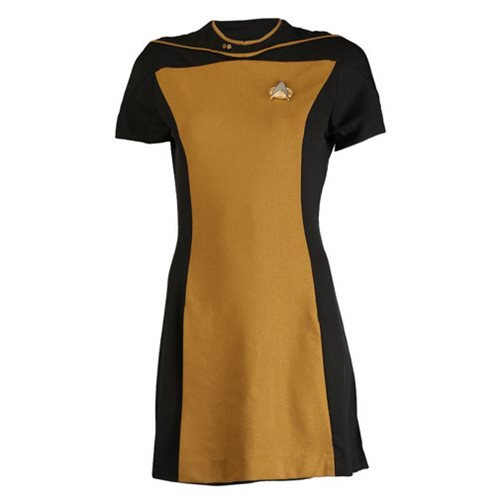 Star Trek: The Next Generation Woman's Skant Operations Yellow Uniform Dress - Official Anovos Costumes :: Mental XS Online
