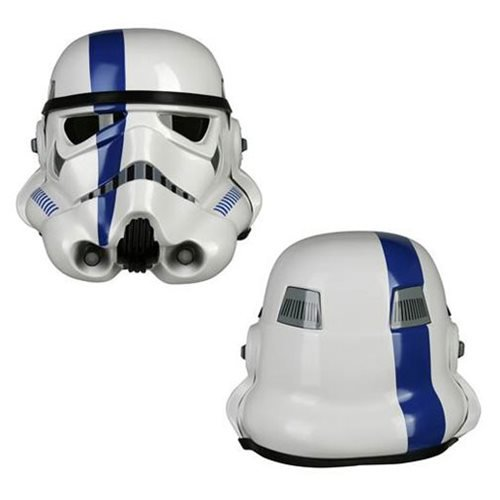 Star Wars Stormtrooper TK Commander Blue Variant Helmet Prop Replica - Official Anovos Limited Edition :: Mental XS Online