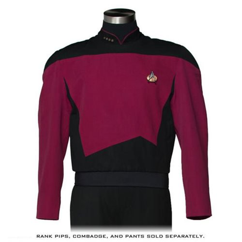 Star Trek: The Next Generation Command Burgundy Premier Line Tunic Costume - Official Anovos :: Mental XS Online
