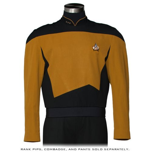 Star Trek: The Next Generation Services Mustard Premier Line Tunic Costume - Official Anovos :: Mental XS Online