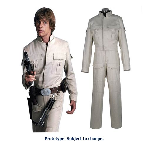 Star Wars Ep V: The Empire Strikes Back Luke Skywalker Bespin Battle Fatigues Costume - Official Anovos :: Mental XS Online