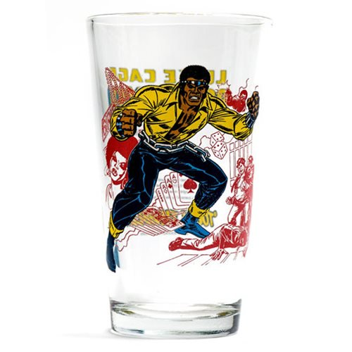 Marvel Power Man Toon Tumbler Pint Glass - Official Popfun Merchandising :: Mental XS Online
