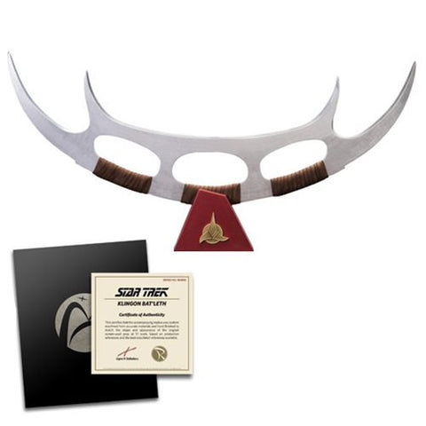 Star Trek Klingon Bat'leth 1:1 Scale Prop Replica Ltd Ed