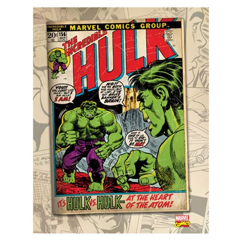 Hulk vs Hulk Comic Cover Canvas Print by Artissimo Design - Official Artissimo :: Mental XS Online