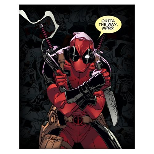 Deadpool Outta The Way, Nerd Canvas Print by Artissimo Design - Official Artissimo :: Mental XS Online