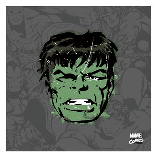 Hulk Distressed Canvas Print by Artissimo Design - Official Artissimo :: Mental XS Online