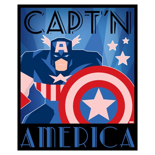 Captain America Decodant Blue Canvas Print by Artissimo Design - Official Artissimo :: Mental XS Online