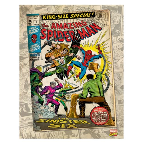 Marvel Spiderman Sinister Six Comic Cover Canvas Print by Artissimo Design - Official Artissimo :: Mental XS Online