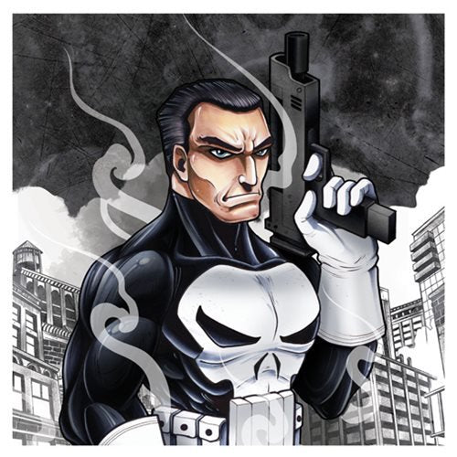 Punisher Character Sketch Armed Canvas Print by Artissimo Design - Official Artissimo :: Mental XS Online