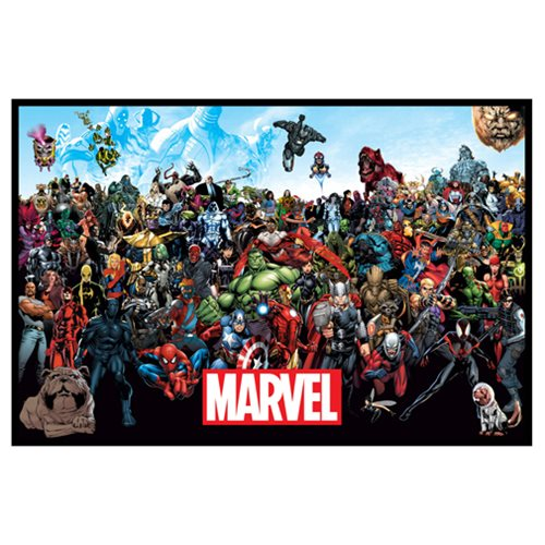 Marvel Lineup Canvas Print by Artissimo Design - Official Artissimo :: Mental XS Online