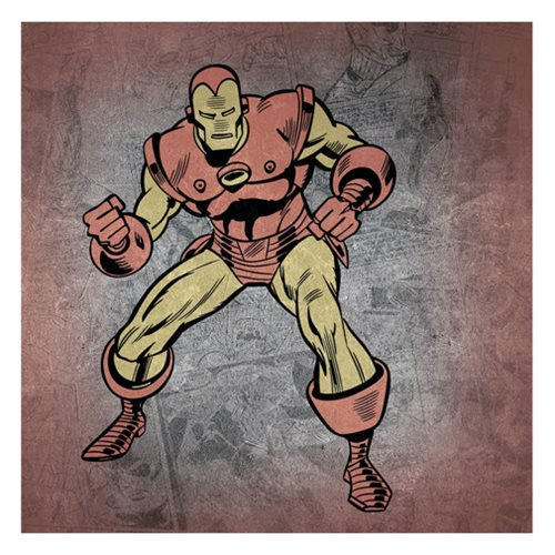 Iron Man Vintage Colored Action Pose Canvas Print by Artissimo Design - Official Artissimo :: Mental XS Online