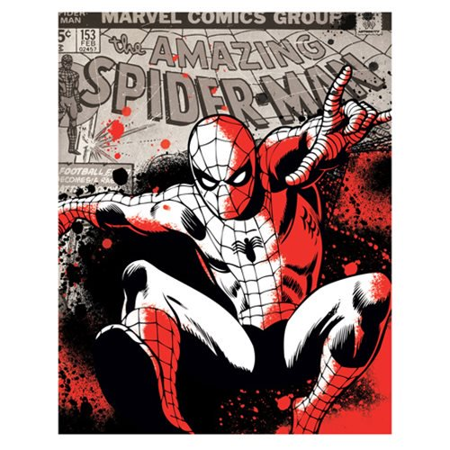 Spider-Man Color Splat Canvas Print by Artissimo Design - Official Artissimo :: Mental XS Online