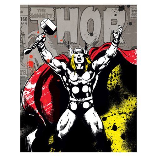 Thor Color Splat Canvas Print by Artissimo Design - Official Artissimo :: Mental XS Online